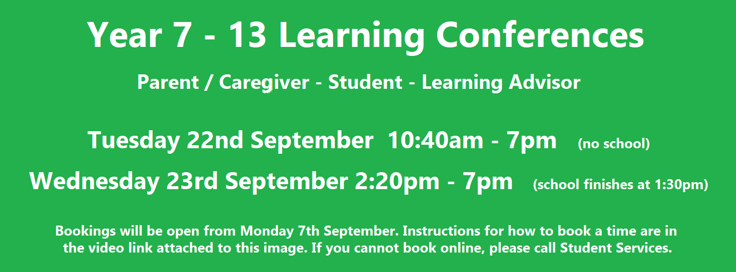 Term 3 Learning Conferences